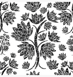 Seamless tree pattern 023 grunge vector