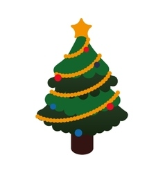 Pine tree icon merry christmas design vector