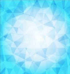 Abstract poligon background in blue tones vector