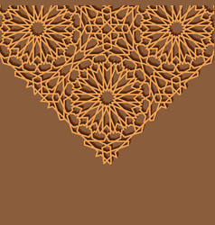 Arabesque star triangle background vector