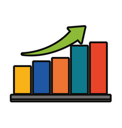 bar graph icon image vector image