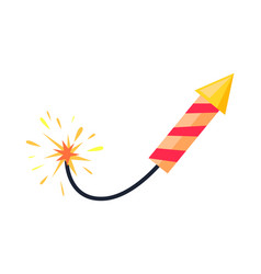 broken-winded firework rocket isolated on white vector image