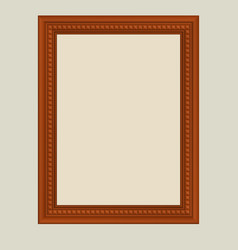 brown frame vector image vector image