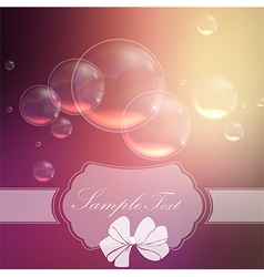 Bubbles background with symbol ribbon vector image