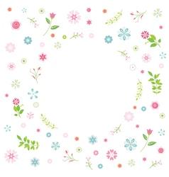 Cartoon flower card vector