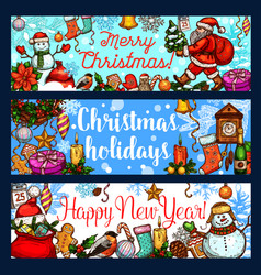 Christmas holiday and new year celebration banner vector