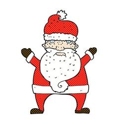 Comic cartoon ugly santa claus vector