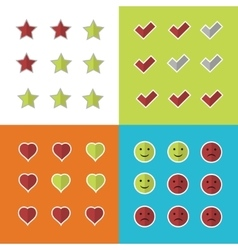 Consumer rating and satisfaction clients feedback vector