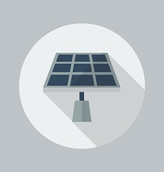 Eco flat icon solar panel vector