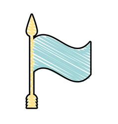 flag ornament symbol image vector image