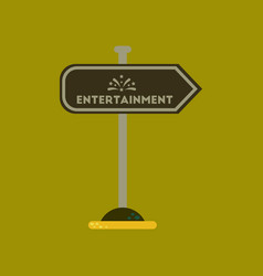 Flat icon on background sign entertainment vector