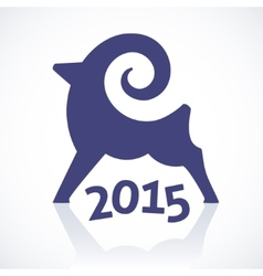 Geometric symbol of a goat 2015 vector image