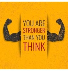 Gym motivation vector image