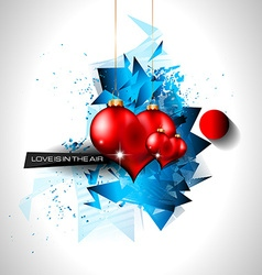 Happy Valentines Day background with lovely Hearts vector image vector image