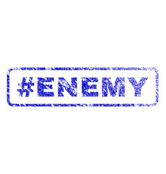 Hashtag enemy rubber stamp vector