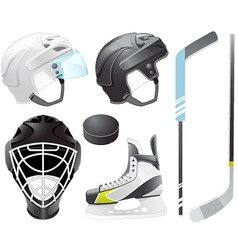 hockey accessories vector image vector image