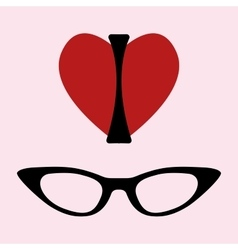 I love glasses print vector image vector image
