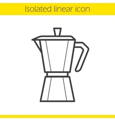 Moka pot icon vector