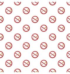 No smoking sign pattern cartoon style vector
