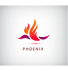 phoenix bird icon logo vector image