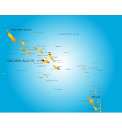 Soloman island vector
