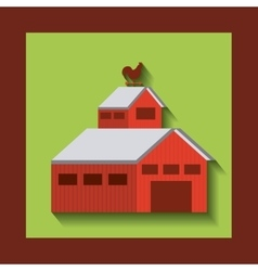 Stable farm building isolated icon vector