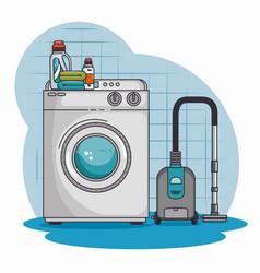 Washing machine and cleaner vacuum vector