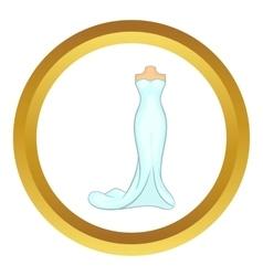 Wedding dress icon vector