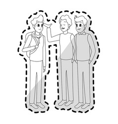 Young adults having conversation icon image vector