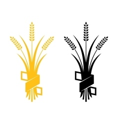 Ears of wheat barley or rye visual graphic vector