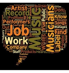 Music jobs that most people don t know about text vector