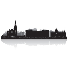 Galway city skyline silhouette vector