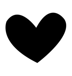 Black heart romance love decoration vector