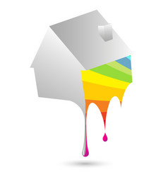 Painting house vector
