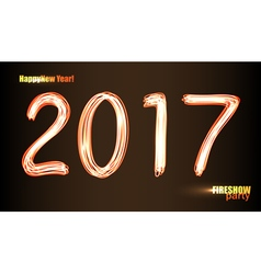 2017 text vector image vector image