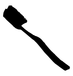 Silhouette of tooth brush vector
