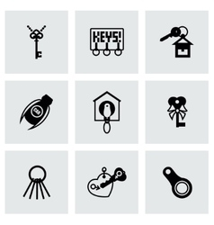 Key icon set vector image