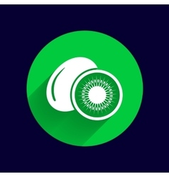 Kiwi fruits closeup icon isolated art logo design vector