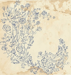 Floral graphic element on the paper vector