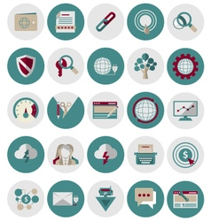 Seo and marketing icons set2 vector