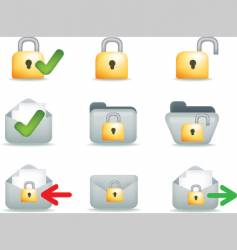 secure mail icons vector image