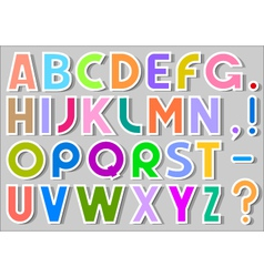 multicolor alphabet stickers vector image