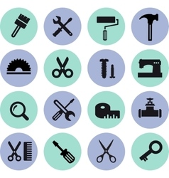 flat computer icons vector image