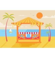 Happy sunny summer day at beach vector