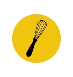 Handle whisk silhouette vector