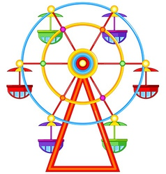 A ferris wheel ride vector
