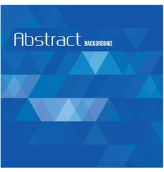 Abstract triangle blue background for templates vector