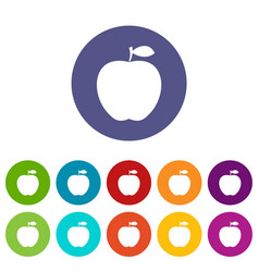 apple icons set flat vector image vector image