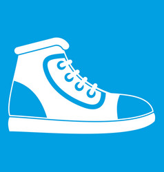 athletic shoe icon white vector image