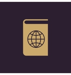 Atlas and globe icon design Geography vector image vector image